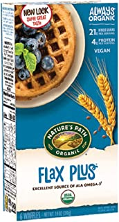 Nature's Path USDA Organic Flax Plus Waffle, 7.4 Ounce (Pack of 12)