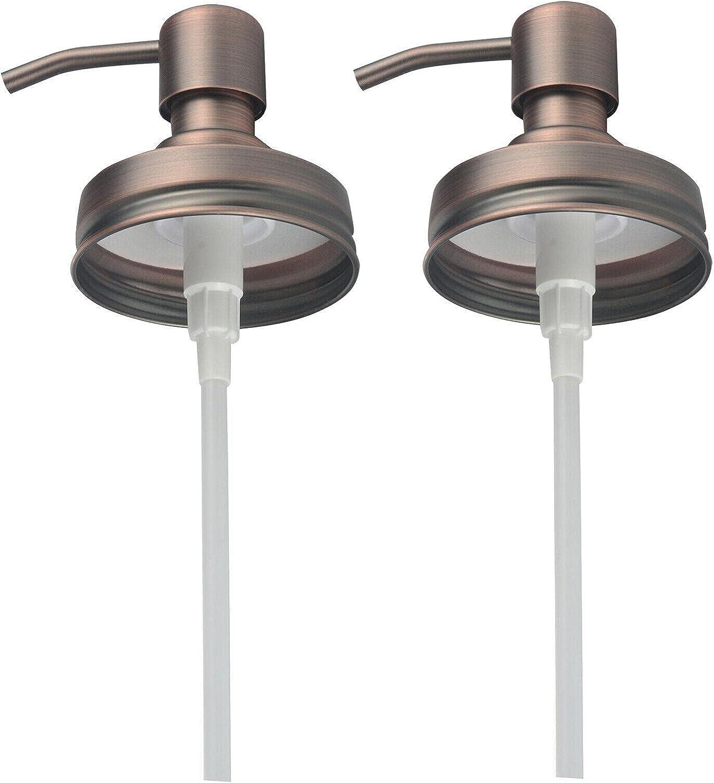 Metal for Mason Jar Soap Lotion Dispenser Lid Pump Tube Canning