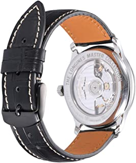 Alligator Grain Watch Band 16mm 18mm 19mm 20mm 21mm 22mm 24mm Quick Release Replacement Leather Watch Straps AISHIRUI Genuine Italian Calf Leather Bracelet for Men and Women (Choice of Colors)
