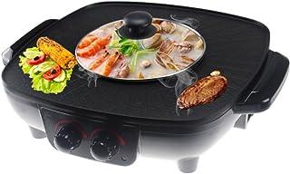 LJIE Elektrische Pan voor Koreaanse grill, Fondue en Barbecue