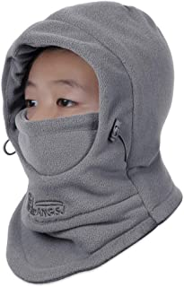 OJSCOS Kids Windproof Double Thick Fleece Hoody Balaclava Outdoor Sledding Skiing Cap
