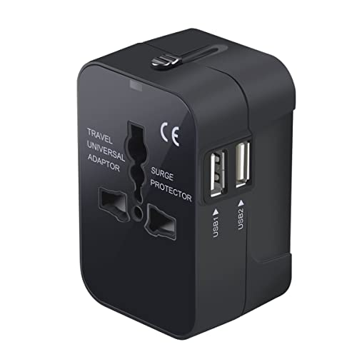 Travel Adapter, Worldwide All in One Universal Travel Adaptor Wall AC Power Plug Adapter Wall