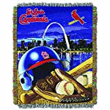 The Northwest Company MLB St. Louis Cardinals 'Home Field Advantage' Woven Tapestry Throw Blanket, 48' x 60' , Red