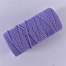 AOM 3 mm kleur katoenen touw dik touw DIY handgeweven wandtapijt twist decoratie gebundeld touw toe, lila