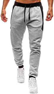 Joggers Casuales de Verano Bolsillo con Cord/ón de Cremallera 3//4 Pantalones Logobeing Pantalones Pantalones Cortos Hombre