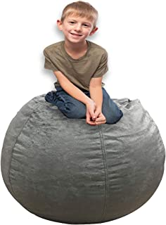 Bean Bag Covers Only Grey Silver 40