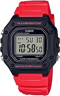 ساعة كاسيو للرجال كوارتز ، رقمية و سوار من الراتنج W-218H-4BVDF