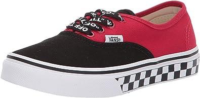 Vans Chaussure Authentic Enfant Rouge-Noir : Amazon.fr: Chaussures ...