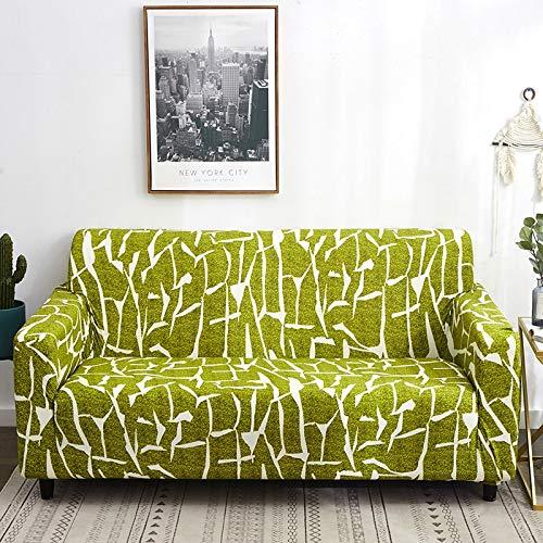 PPOS Funda de sofá elástica de Cuero con Estampado de patrón Protector de Muebles, Utilizada para la Funda de sofá de Esquina en la Sala de Estar A11 4 Asientos 235-300cm-1pc
