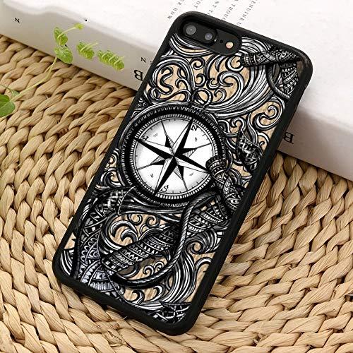 WGOUT Anchor Compass náutico Marinero Vela Funda para teléfono para iPhone X XR XS 11 12 Pro MAX 5 6 7 8 Plus para Samsung S6 S7 S8 S9 S10, para iPhone 8plus