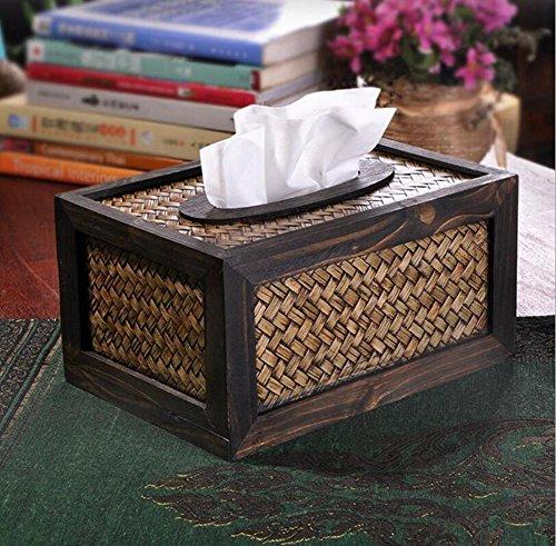 Toilettenpapierhalter – Holz Retro Mehrzweck-Papierbox Teetisch für Küche Wohnzimmer Persönlichkeit kreativ handgefertigt