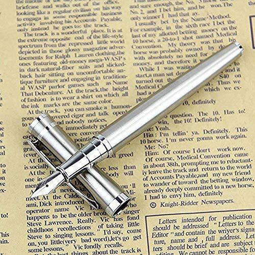 Penna stilografica argento con scatola, 13,5 cm, set per quadri, classico, convertitore di inchiostro, confezioni regalo, stilografiche, Stilografica Penne a Inchiostro fine Pennino