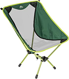 Cascade Mountain Tech Compact Lightweight Folding Portable Camp Chair for Backpacking, Camping, Hiking, Concerts, and Outdoor Festivals