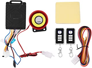 Motorcycle Vehicle Alarm,Motorbike Anti-theft Alarm System Security Protection with Remote Control Engine Start