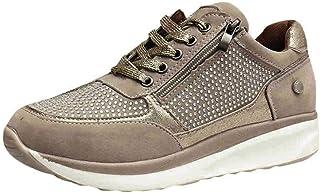 comprar comparacion Zapatillas De Mujer Plataforma De CuñA Zapatos Casuales De Diamantes De ImitacióN De Plataforma Zapatillas con Cremallera ...