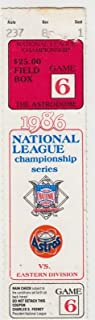 1986 NLCS Game 6 Ticket NY Mets @ Houston Astros 16 Inning Clincher 53013