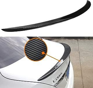 Huichi W205 Spoiler, Carbon Fiber AMG Style Rear Trunk Deck Lip Boot Spoiler Wing for Mercedes-Benz C Class W205 C205 4-Door Coupe