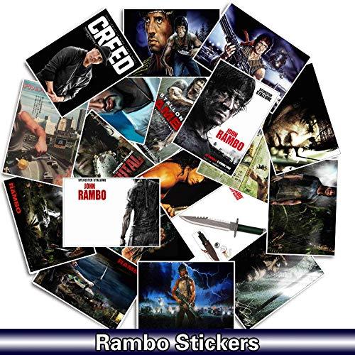 BLOUR Rambo Movie Aufkleber Aufkleber für Snowboard Gepäck Auto Styling Laptop wasserdichte Aufkleber Aufkleber 25 Stück/Packung