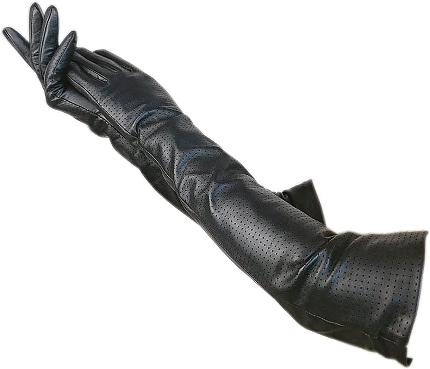 Shipping included Black Fashionable winter ladies elbow fashion sheepskin autumn gloves punche