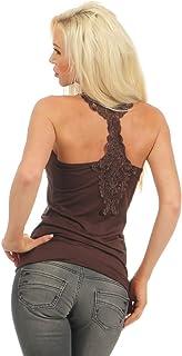 3828Fashion 4YOUNG Crochet Top Ärmelos Shirt Basictop Lace Top Women's Tank Top Women's Top