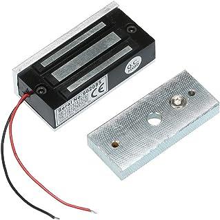 OWSOO 60KG / 132LBS Cerradura Magnética Electromagnética Fuerza Retención para Control Acceso Puerta Sistema Seguridad Fail