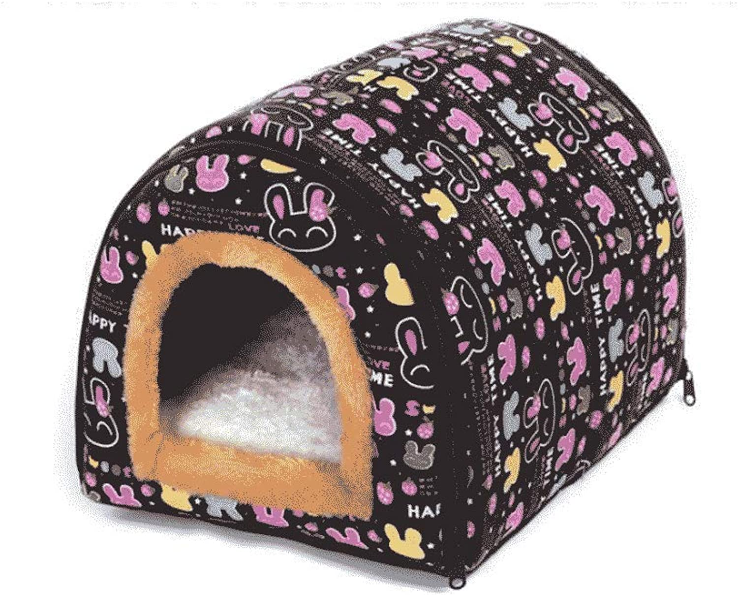 Kennel Winter Warm Dog Kennel Large Dog Cat House Indoor Kennel Cat Litter Four Seasons General Medium Small Pet WHLONG (Size   M)