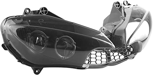 popular Mallofusa Motorcycle Front Headlight Headlamp Assembly Compatible for Yamaha YZF online sale R6 2003 2004 2005 YZF R6S popular 2006 2007 2008 2009 Smoke Lens outlet online sale