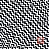 Textilkabel für Lampe, Stoffkabel 3-adrig (3x0,75mm²), Schwarz-Weiß zick/zack - 3 Meter