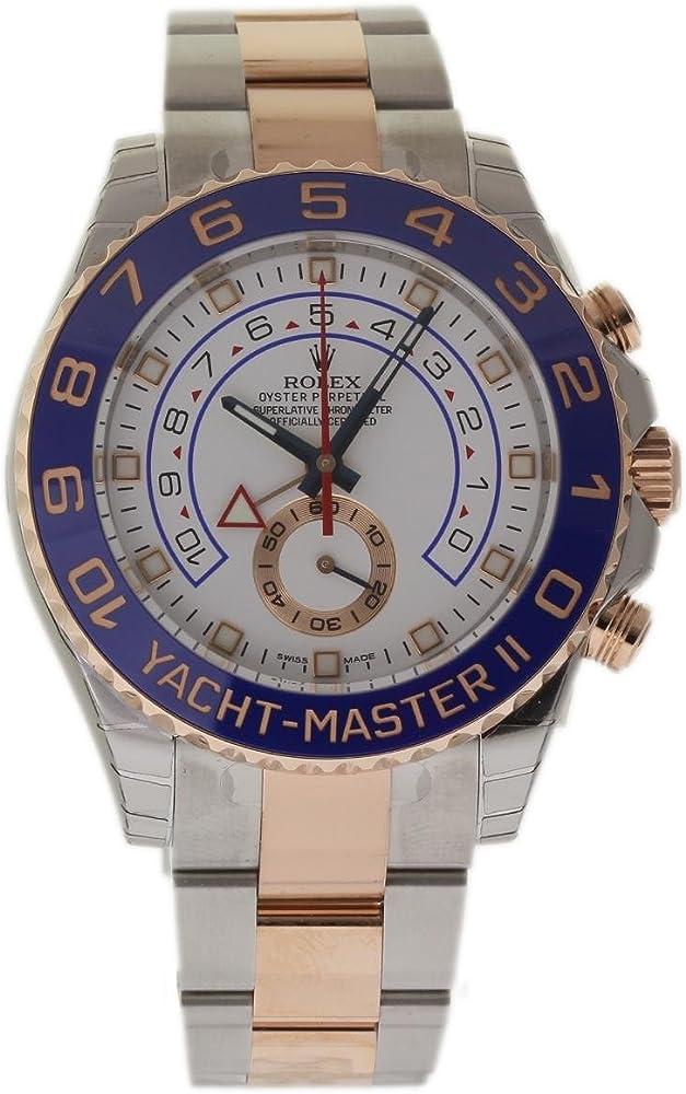 Rolex - yacht-master ii orologio automatico da uomo, 18 k, acciaio e oro giallo 116681,
