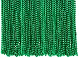 """4E's Novelty St Patricks Day Beads Necklace Bulk (72 Pack) Green Beads - St. Patrick's Day Gifts for Kids, 33"""" 7mm Kids Party Favor Supplies Costume Accessories"""