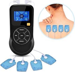 DXQDXQ Estimular TENS EMS Electroestimulador Muscular Digital 2 Canales Totalmente Recargable USB Mensajes de Voz Ideal para Uso en su Hogar Personal
