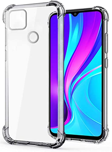 WOW Imagine Ultra Hybrid Shockproof Case For REDMI 9 Flexible Protective Cushioned Edges Crystal Clear TPU Bumper Corners Back Case Cover For XIAOMI MI REDMI 9 Transparent