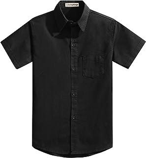 GULLIVER Camicia da Ragazzo Manica Corta Bambino Blu Cotone