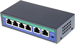 MonkeyJack POE Switch Network 6-Port with 4-Port PoE 10/100Mbps Power over Ethernet Switch - Designed for IP Camera Use