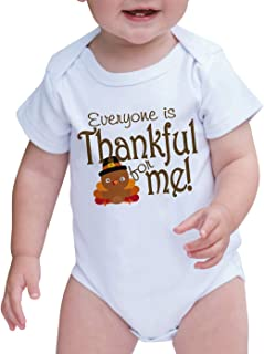 7 ate 9 Apparel Baby Everyone is Thankful for Me Turkey Onepiece