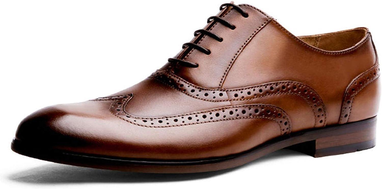 Full Grain Leather Men Oxford shoes British Style Retro Carved Bullock Formal Men Dress shoes