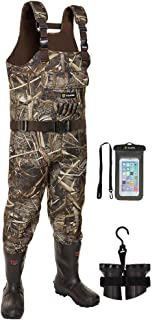 TideWe Chest Waders، Hunting Waders for Men Realtree MAX5 Camo با عایق 800G ، ضدآب پاک کن Neoprene Bootfoot Wader ، عایق شکار