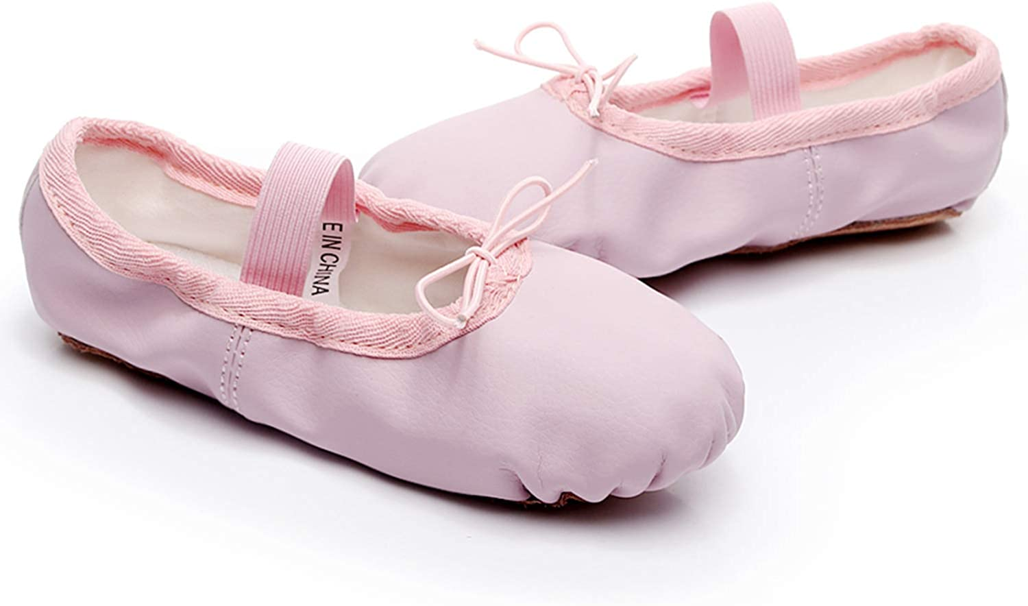FEETCITY Girls Leather Ballet Dance Shoes Women Pointe Shoes Slippers Flats Yoga Shoe Toddler//Little Kid//Big Kid//Women