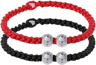comprar comparacion Xuniu 2 Piezas Pulsera de Cuerda roja Hecha a Mano, Kabbalah Cuerda roja Pulseras de Cadena Buena Suerte Amuleto Budista A...