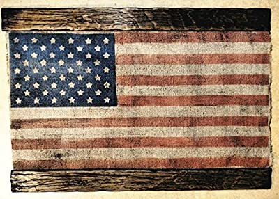 Famous American Flag, Rustic USA Flag Wall Decor, Custom Handmade Artwork Painted