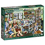 Jumbo Granny's Sewing Room Piece Jigsaw Puzzle Falcon de Luxe-Rompecabezas de 1000 Piezas para la Sala de Costura de la Abuela, Multicolor (11273)