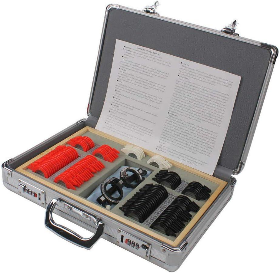 BUBUQD 104Pcs Trial Lens Set Box Cheap bargain Phoenix Mall F Plastic Optometry Rings