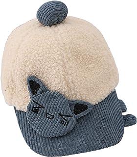 T.H.L.S قبعة بيسبول صوفية للبنات والأولاد من سن 1-4 سنوات قبعة شتوية لقط حيوان لطيف قابلة للتعديل