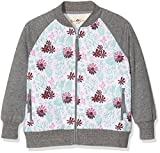 Ben & Lea Mdchen Sweatshirt Serre Jacke, Gr. 122 (Herstellergre: 122/128), Mehrfarbig (blumen Bunt Dunkelgrau 100)