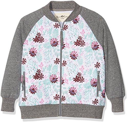 Latupo GmbH (Apparel) Ben & Lea Mädchen Sweatshirt Serre Jacke, Gr. 122 (Herstellergröße: 122/128), Mehrfarbig (blumen Bunt Dunkelgrau 100)