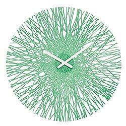koziol SILK Wall Clock, Powder Mint