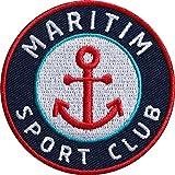 2 x Maritim Sport Patch 62 mm hochwertig gestickt / Aufbügler Aufnäher Flicken Bügel-Flicken zum...