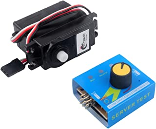 DS04-NFC 360 Degree Continuous Rotation Servos and RC Servo Tester Power Channels CCMP Meter for Smart Car Robots Aerospace Model