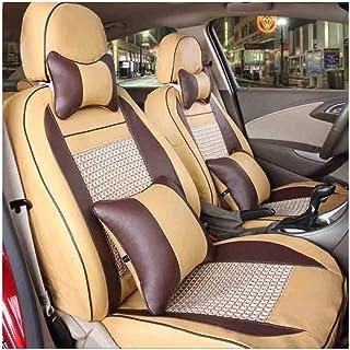 JKHOIUH Four Seasons Cinco cubiertas de asiento, protector de asiento Cubiertas de alfombrilla de coche, se adapta a la mayoría de los vehículos, automóviles, sedán, camión, SUV, Van Cubierta de Gener