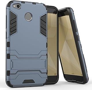MaiJin Funda para Xiaomi Redmi 4X (5 Pulgadas) 2 en 1 Híbrida Rugged Armor Case Choque Absorción Protección Dual Layer Bum...